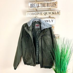LEVI'S | Green Hooded Jacket